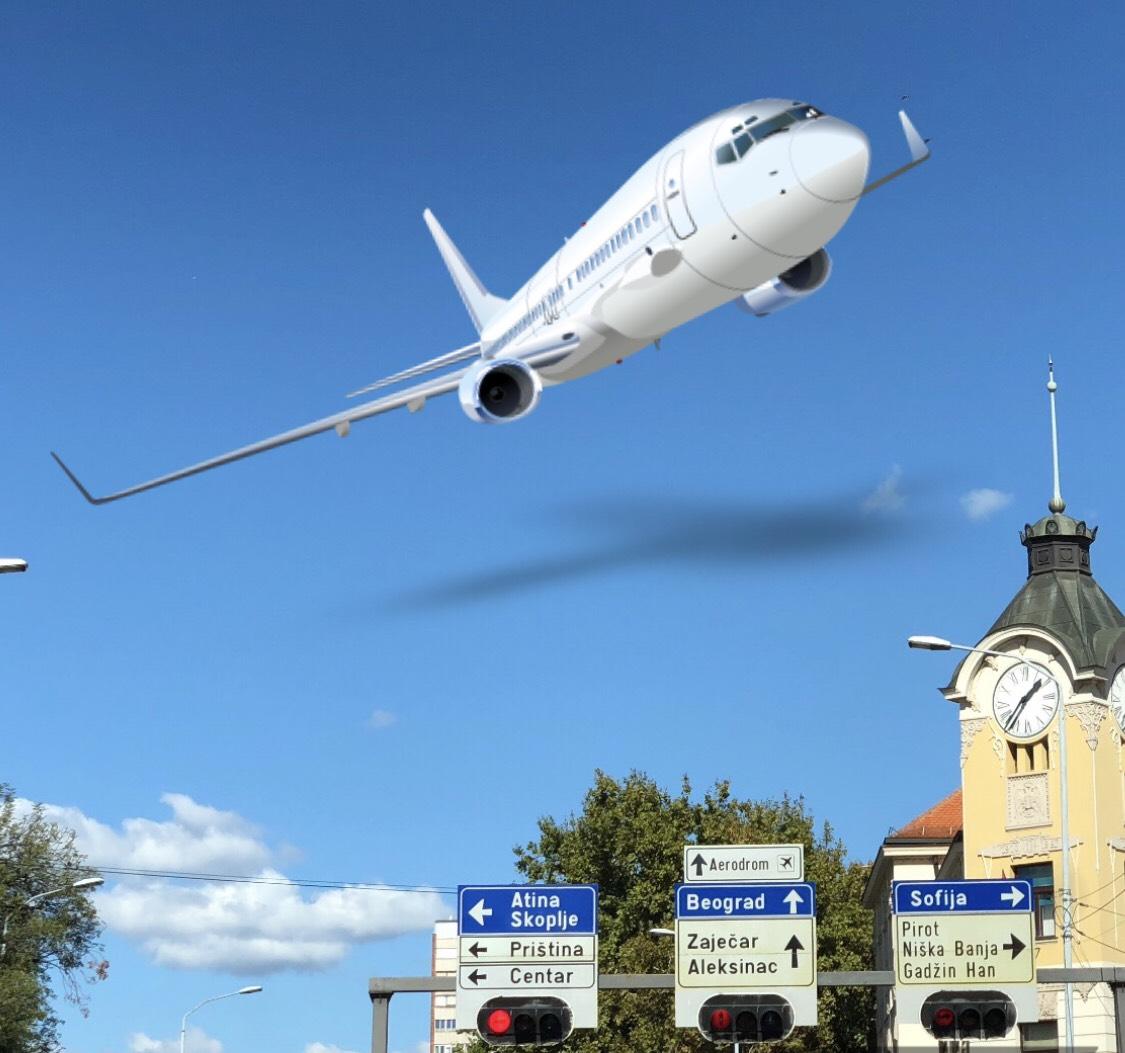 Фото илустрација, град Ниш и авион, фото: Редакција