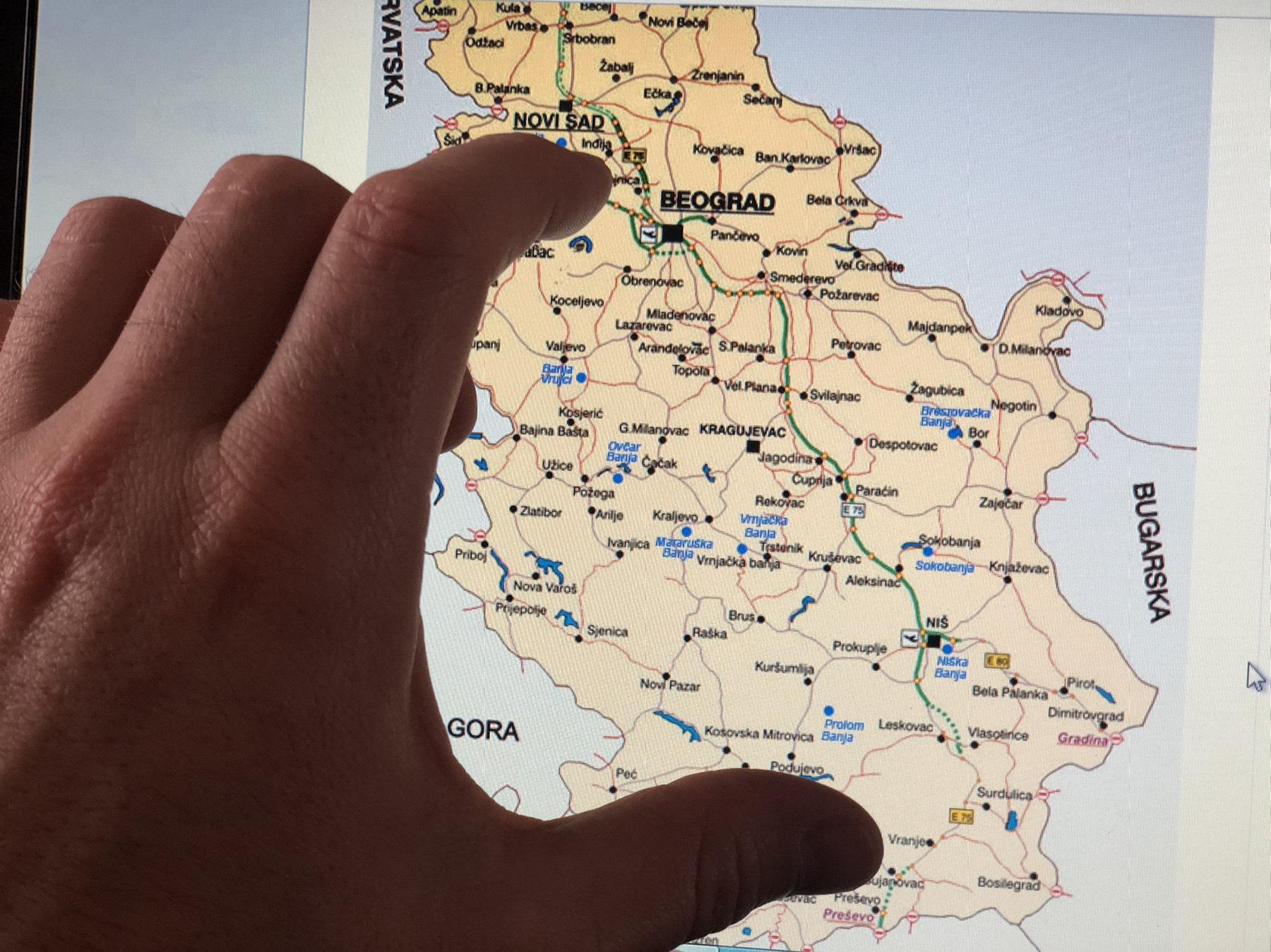 Мапа Србије, фото илустрација, М.М.