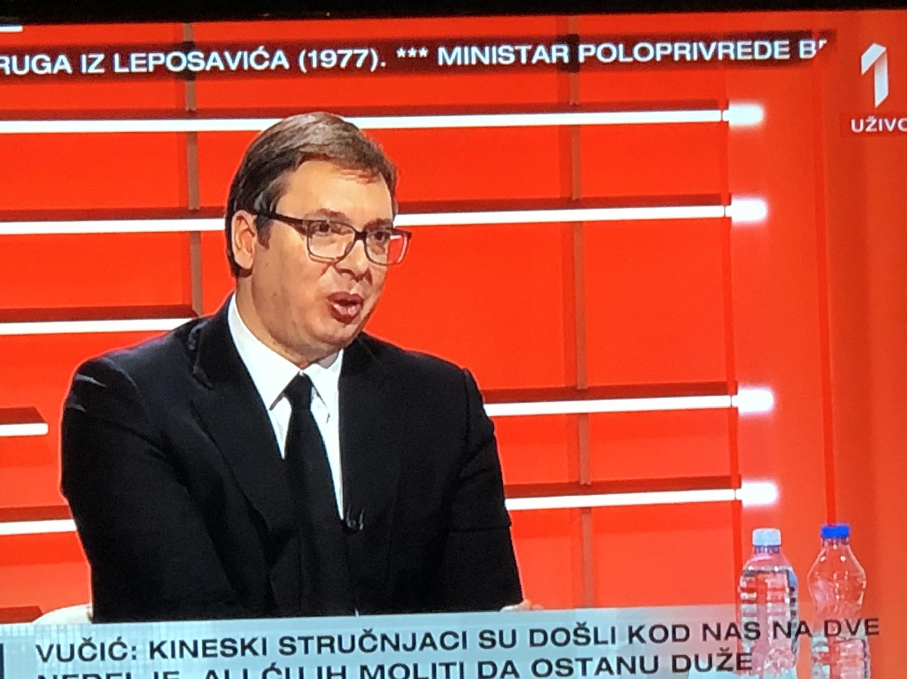 Председник Србије, фото: Прва