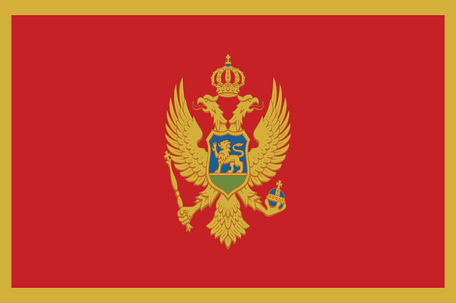Илустрација, застава Црне Горе, фото: pixabay.com