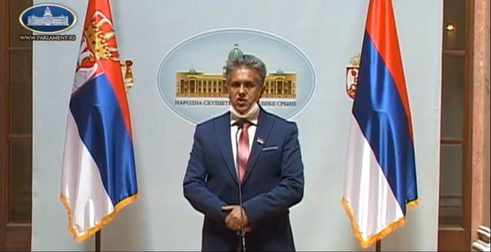 Милија Милетић, фото: Парламент.рс, јутјуб линк