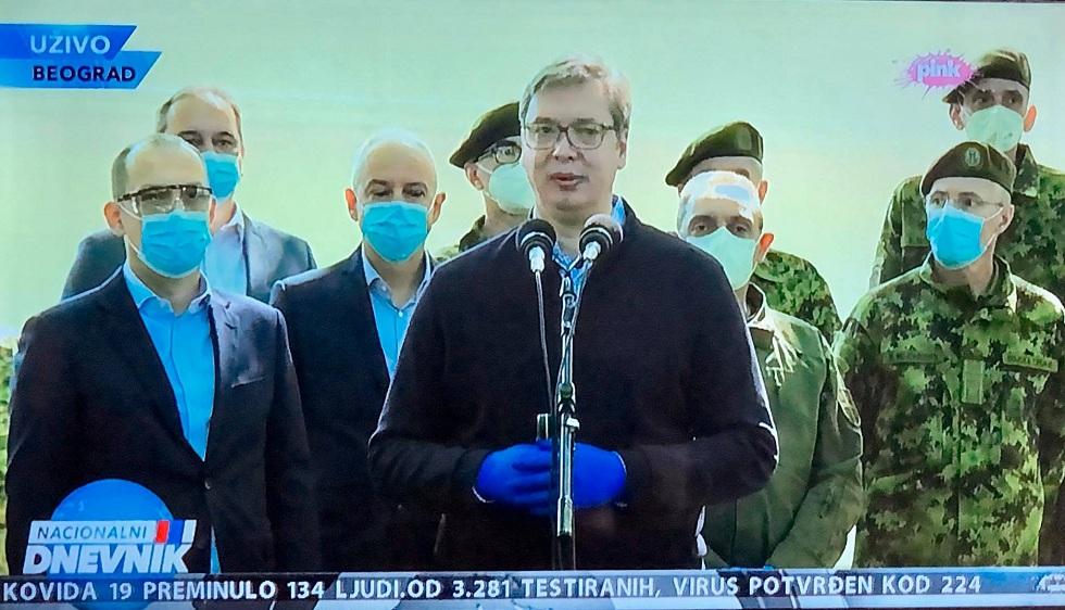 Председник Вучић, фото: Пинк ТВ, фото ПртСцр