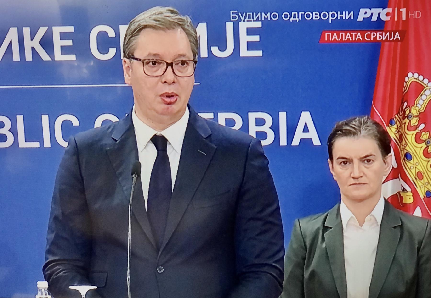 Александар Вучић и Ана Брнабић, фото: РТС