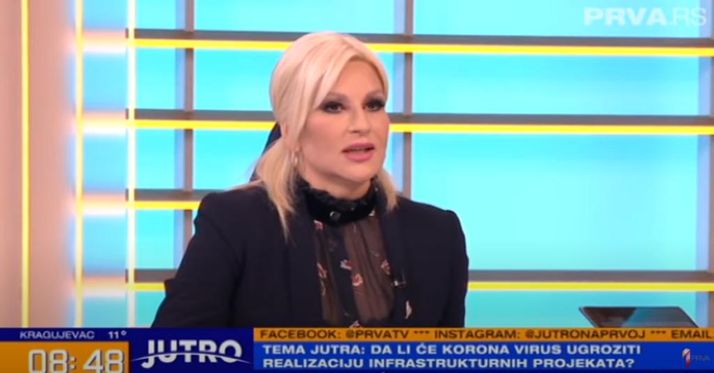 Зорана Михајловић, фото илустрација, преузето са јт канала ,,ТВ Прва''