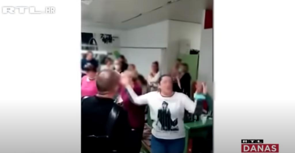 Журка у ковид болници у Хрватској, фото: Јутјуб