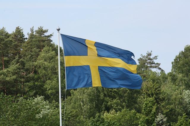 Застава Шведске, фото: Hasse Lundqvist, Пиксабеј