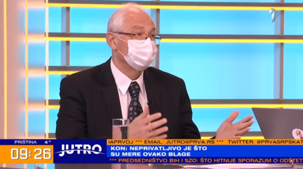 Др Предраг Кон, фото: Прва ТВ, Јутро емисија