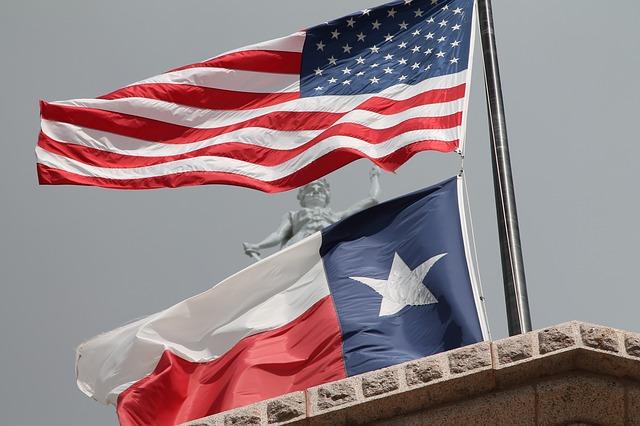 Застава Америке и Тексаса, фото: Пиксабеј