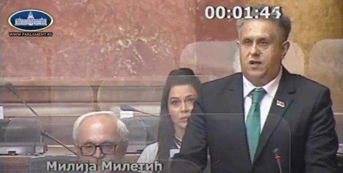 Народни посланик Милија Милетић, фото: Парламент